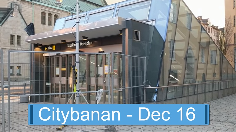 Citybanan i december 2016
