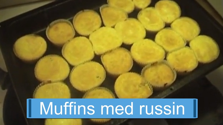Muffins med russin