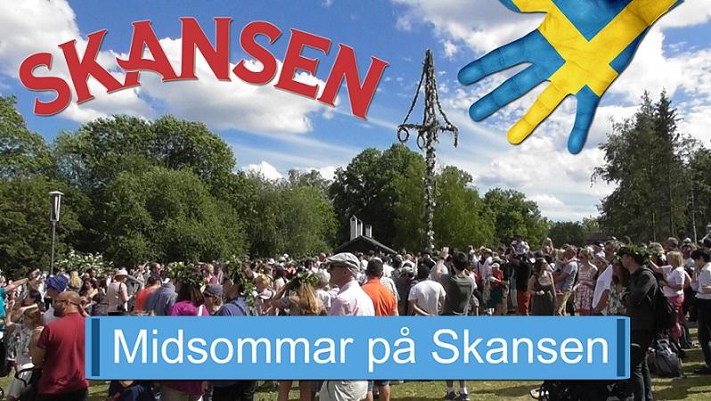Midsommar på Skansen