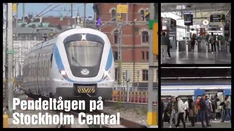 Pendeltåg på Stockholm Central